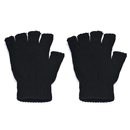 ec4436db42a23 Image Unavailable. Image not available for. Color: Gloves Men Fingerless  Winter ...