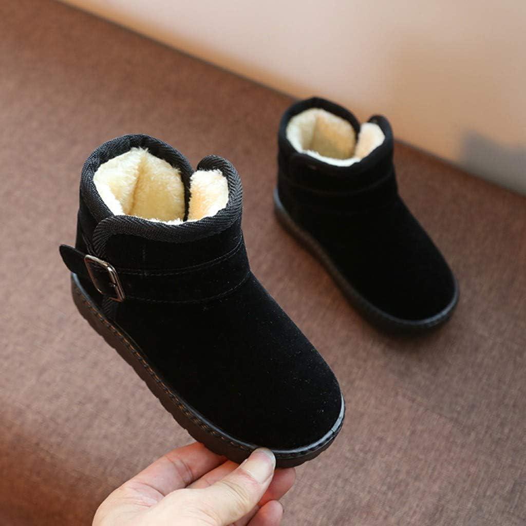Amazon.com: Shan-S - Botas de nieve para niños y niñas (piel ...