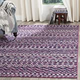 Safavieh Madison Collection MAD606M Fuchsia and Navy Bohemian Chic Area Rug (8′ x 10′)