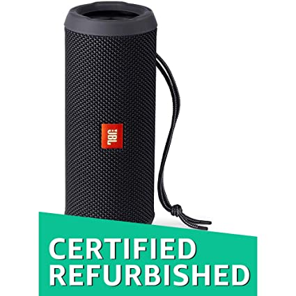 (Renewed) JBL Flip 3 Portable Wireless Speaker with Powerful Sound & Mic  (Black)