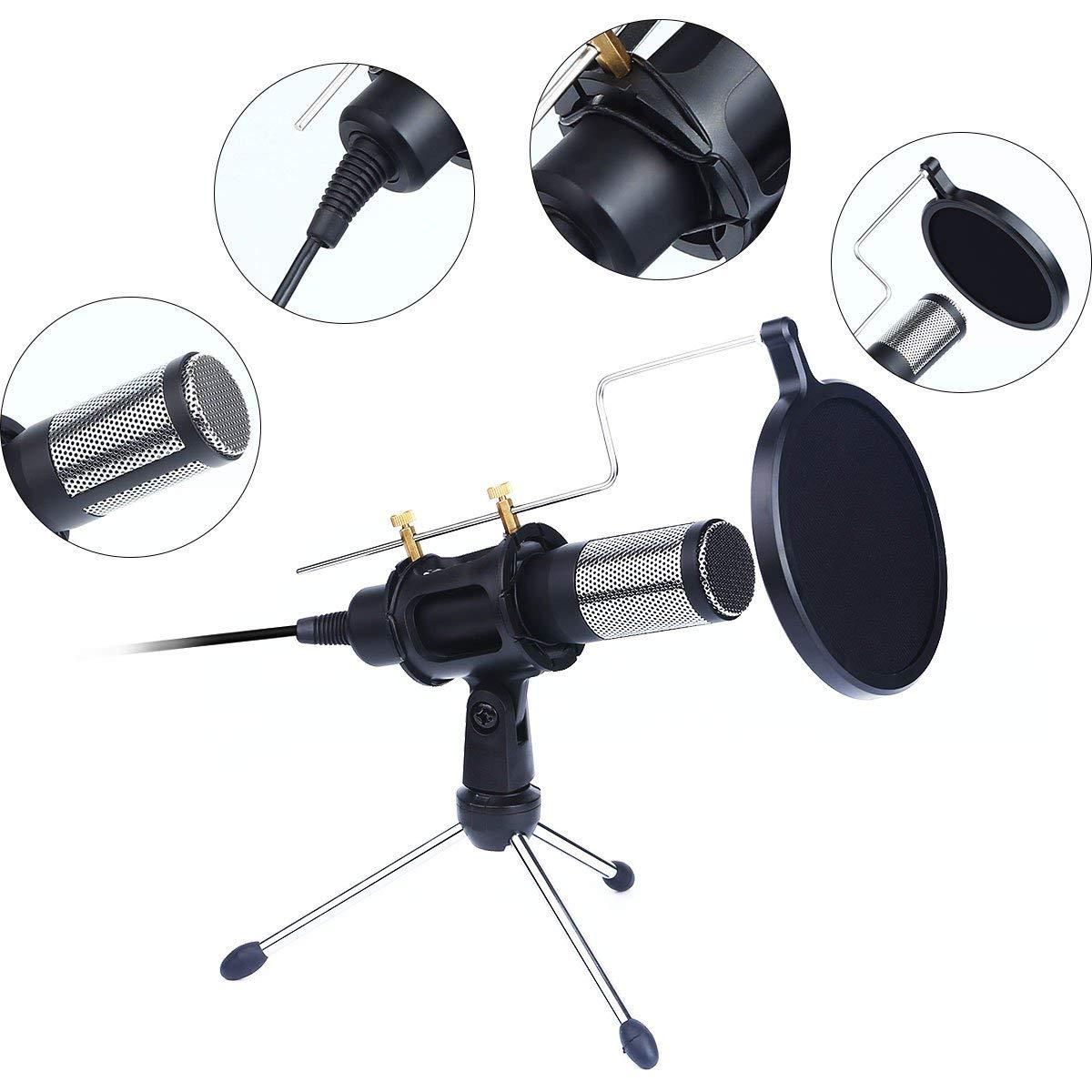 SANRENXING Micrófono USB, de Condensador Profesional Podcast ...