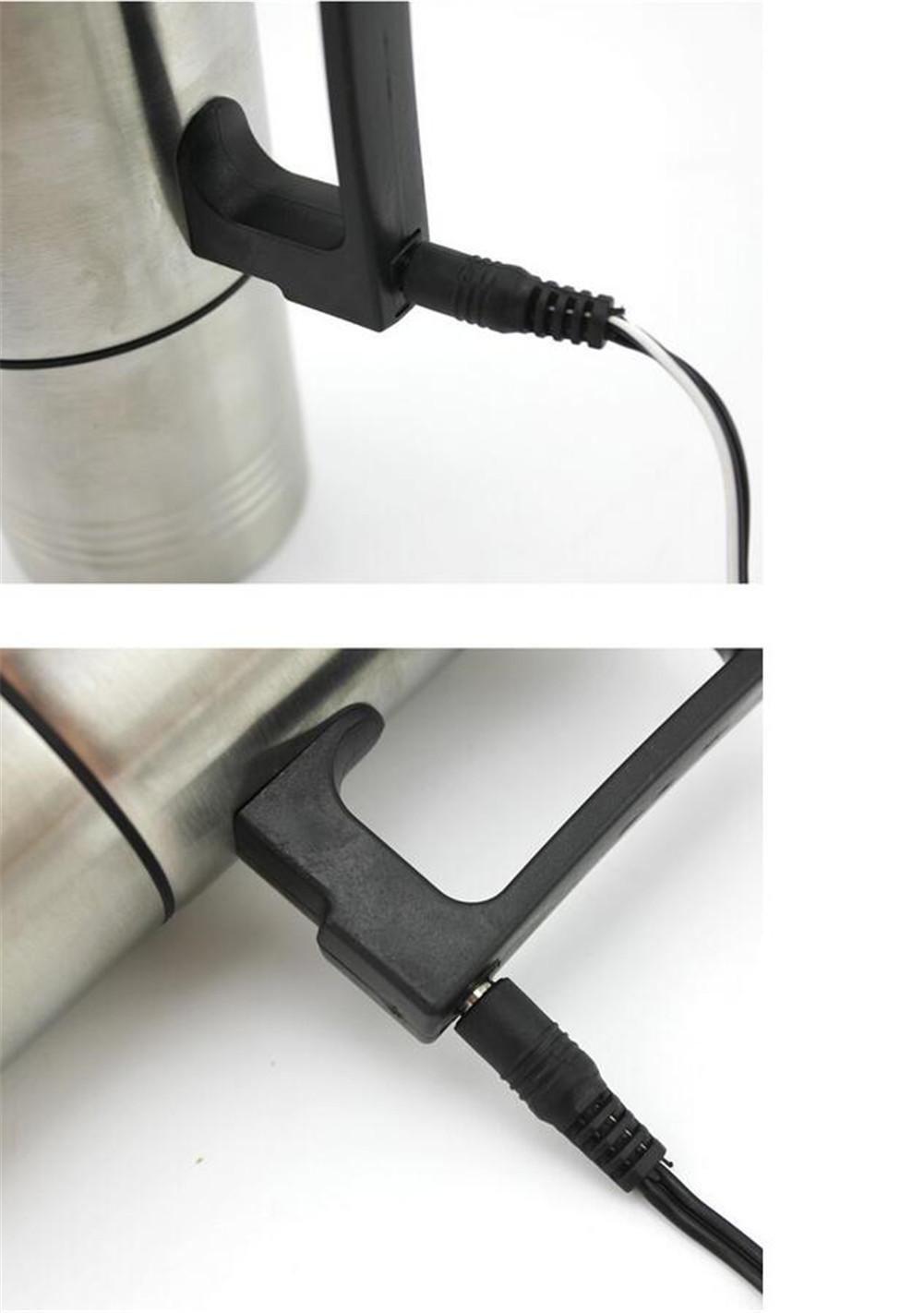 GO&CAR Calentador de agua taza 12V 24V coche calefacción Hervidor eléctrico caliente de acero inoxidable cigarrillo encendedor café: Amazon.es: Deportes y ...