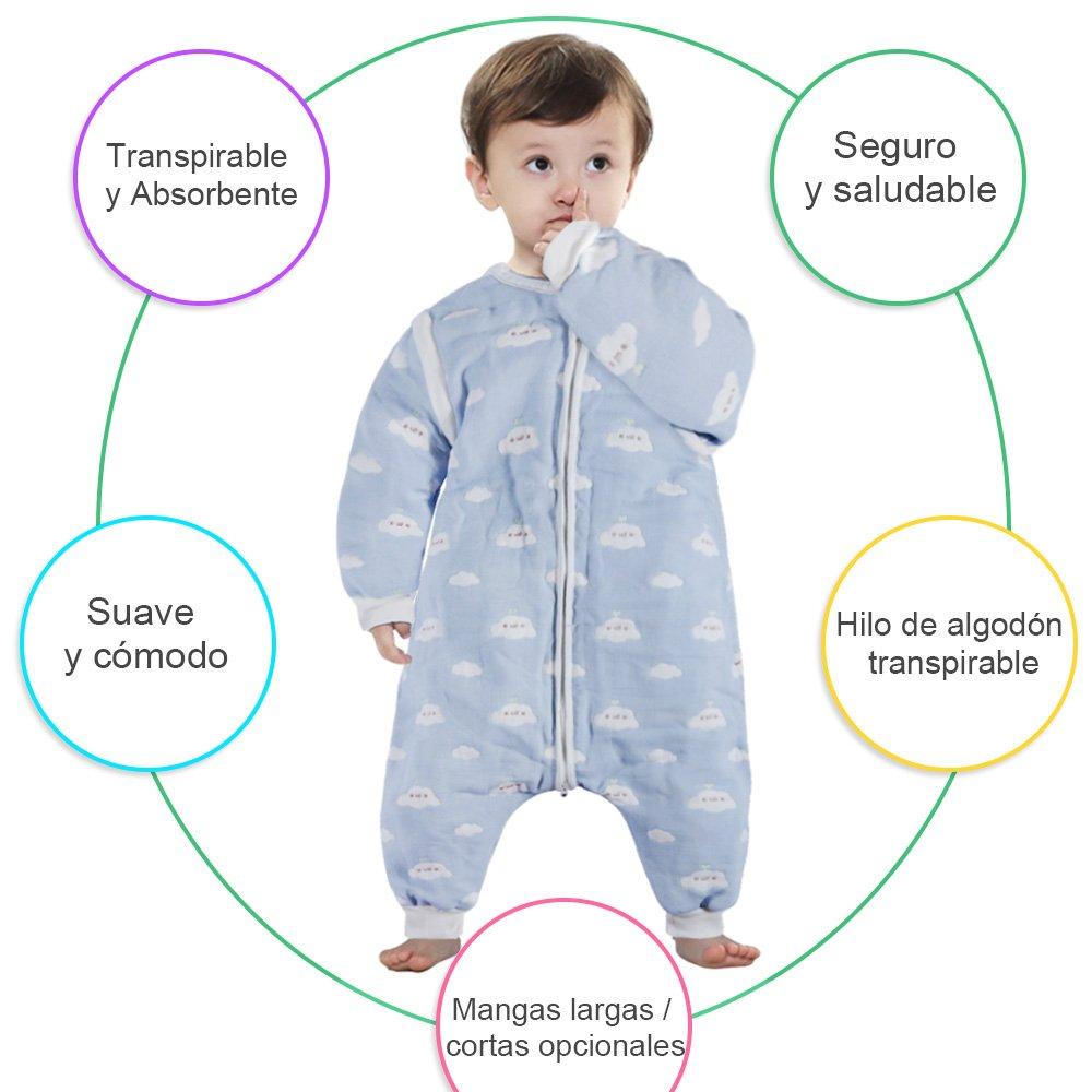 Lictin Saco de dormir para bebés con mangas extraíbles para bebés ...