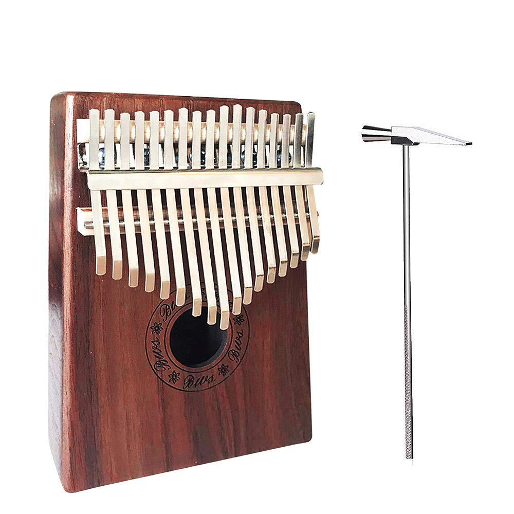 Kalimba 17 Keys Thumb Piano Mbira Finger Piano with Instruction And Tune Hammer, Portable Thumb Piano Acacia Body Ore Metal Tines Study Guide for Music Lovers Beginners and Child (Acacia Wood)