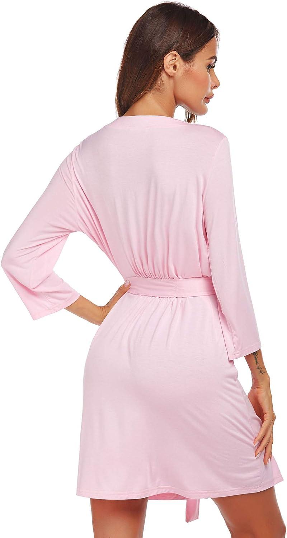 Hospital Nightgown Pregnancy Sleepshirts for Breastfeeding Ekouaer Womens Labor//Delivery//Nursing Robe Maternity Sleepwear