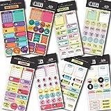 Cartelas de adesivos para planners