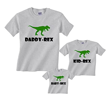 43f0ab669 Amazon.com: Footsteps Clothing Dad-Rex, Kid-Rex, Baby-Rex Matching Dinosaur T-Shirts  Father Son: Clothing