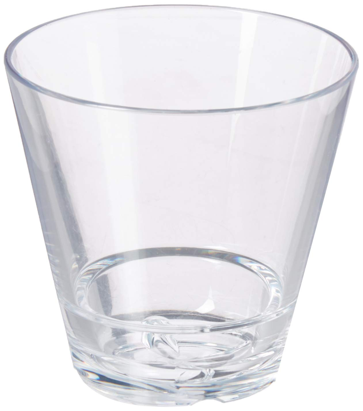 Drinique CAL-DR-CLR-24 Caliber Double Rocks Unbreakable Tritan Whiskey Glasses 12 oz (Case of 24) Clear