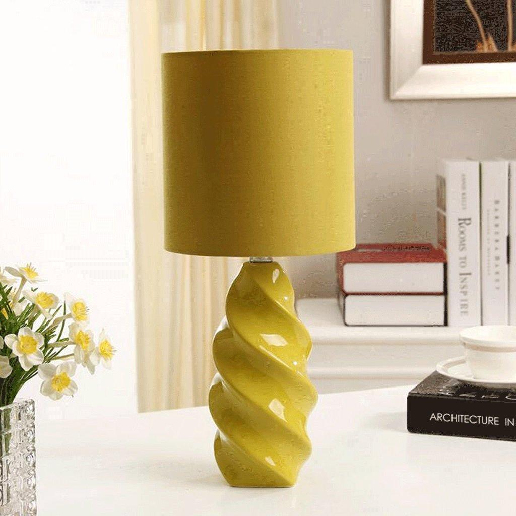 BMKY Tischlampe Grüne Keramik-Lampe moderne minimalistische Art und ...