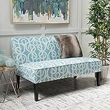 Charlotte Azure Fabric Love Seat