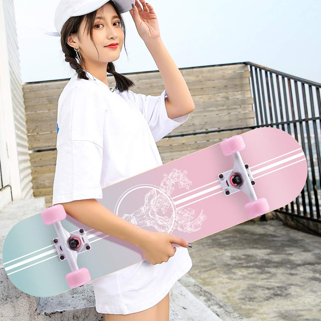 スケートボード 初心者スケートボード大人男の子女の子十代の子供アクションスケートボード (Color : K) K