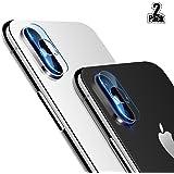 [2 Pièces] Beyeah Caméra arrière protecteur de lentille pour iPhone X- 0.18mm ultra-mince, anti-rayures, haute transmission[Version parfaite améliorée]