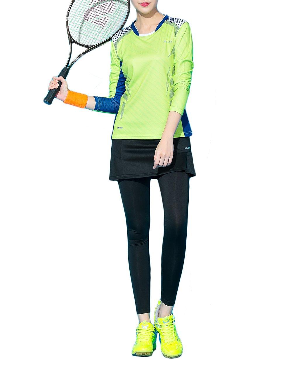Women 's Proシャツスカートwithレギンス通気性2018の新しいデザインファッションテニス、ゴルフ、バドミントン XL  B077TLYH1V