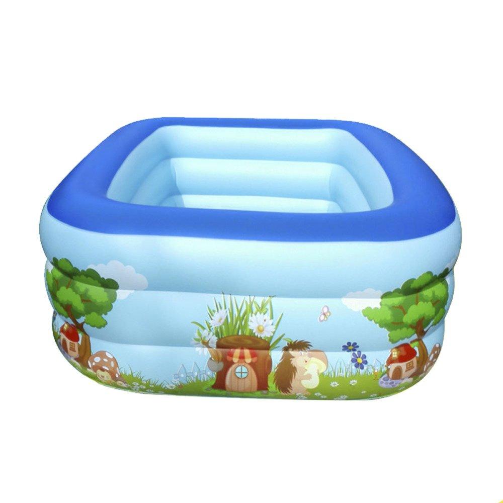 YIWANGO Piscina Gonfiabile Piscina Per Bambini Pvc Casa Esterno Addensamento Bambino Gonfiabile Palla Marina,blu-200  150  60