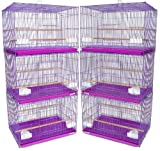 YML Small Breeding Cages, Lot of 6, Purple, My Pet Supplies