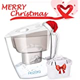 Water Filter Pitcher - BPA Free with 4-Stage Filter for Reducing Lead, Mercury, Removing Chlorine Taste & Odor, 10 Cup Water Filtration Pitcher with Easy to Refill Design for Safe Clean Drinking Water