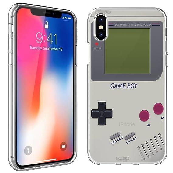 competitive price 62783 43cf8 iPhone X Case [Retro GameBoy](Clear) PaletteShield Flexible Slim TPU skin  phone cover