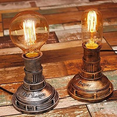 KXBYMX,Lámpara de Escritorio nórdica Loft Industrial Retro ...