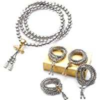Autodefensa collar de acero inoxidable/collar de latón chain108 perlas de Buda decoración del coche colgante autodefensa pulsera azote