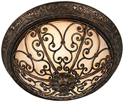 "French Scroll Collection 16"" Wide Ceiling Light Fixture"