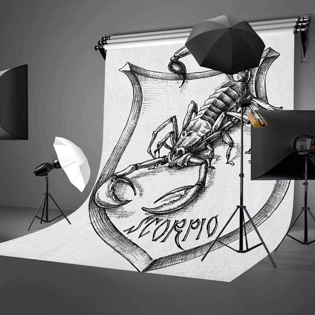 7x10 FT Zodiac Sagittarius Vinyl Photography Backdrop,Hand Drawn Constellation with Silhouette of a Bow and Arrow Background for Party Home Decor Outdoorsy Theme Shoot Props