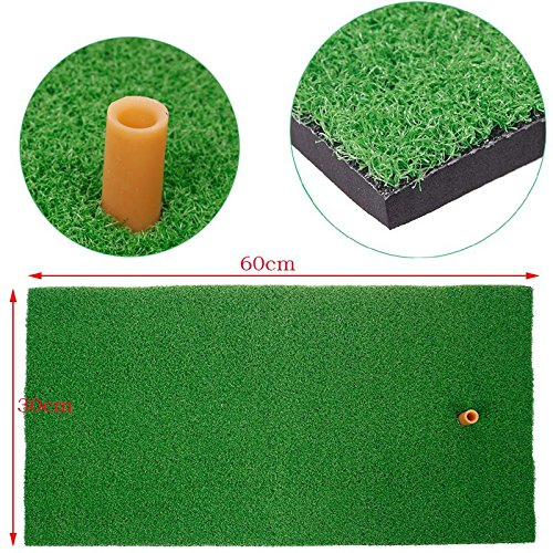 SINEDY 12 x24 Residential Practice Indoor Putting Green Rubber Tee Holder Backyard Golf Mat