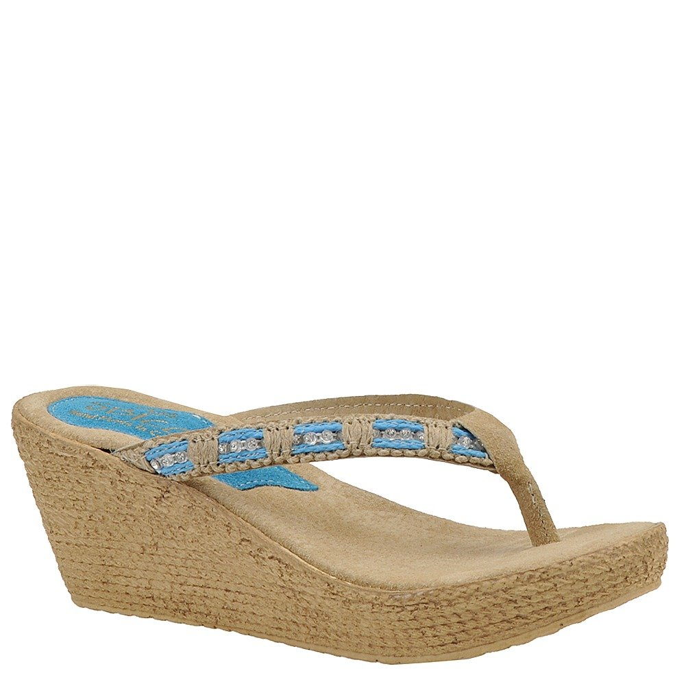 Sbicca Womens Cora Wedge Sandal 11 M Turquoise