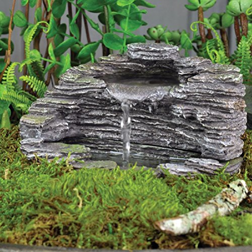 Miniature FAIRY GARDEN Shale Fountain NEW by unbrand