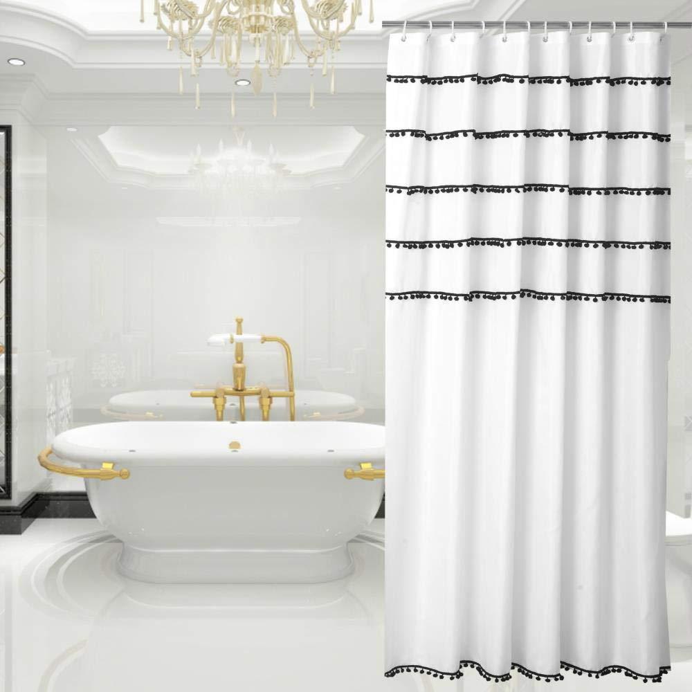 180 jihaoqwer Salle de Bains Polyester Toilettes Rideau ...