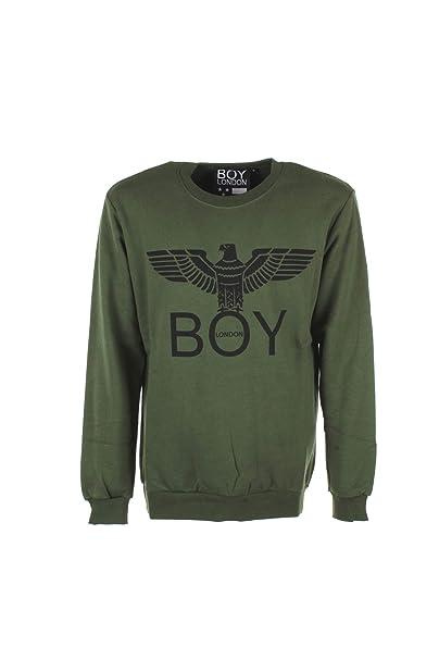 Boy London Felpa Uomo M Verde Blu5001 Autunno Inverno 2018/19: Amazon.es: Ropa y accesorios