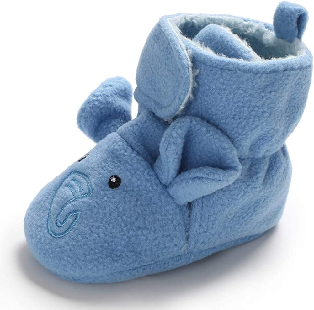 Babycute Baby Boys Girls Fleece Booties Non-Slip Bottom Soft Sole Winter Boots Shoes Unisex Pram First Birthday Gift