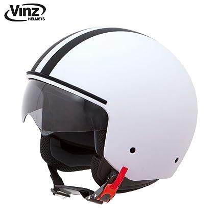 Amazon.es: Casco moderno de moto Vinz, tipo jet, color ...