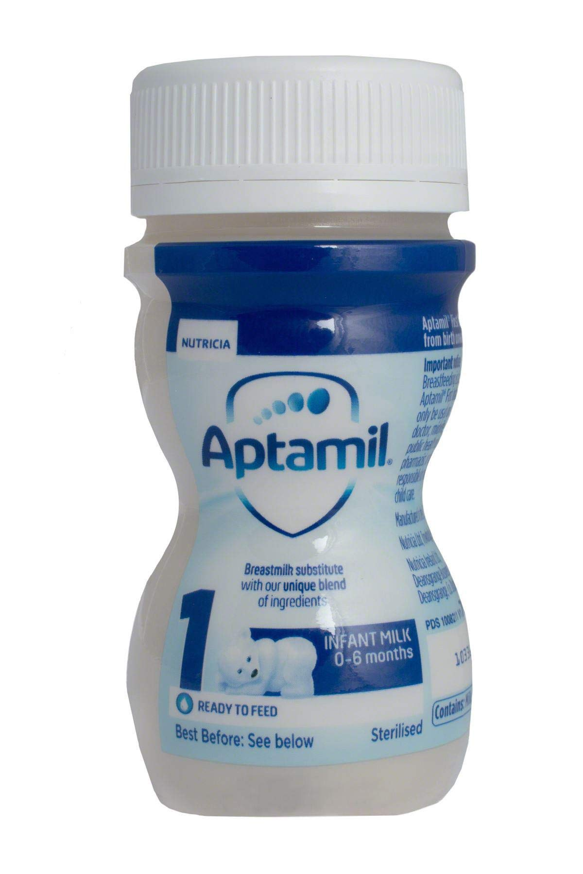 Aptamil First Infant Milk - Ready to Feed, 70ml, Box of 24 Bottles