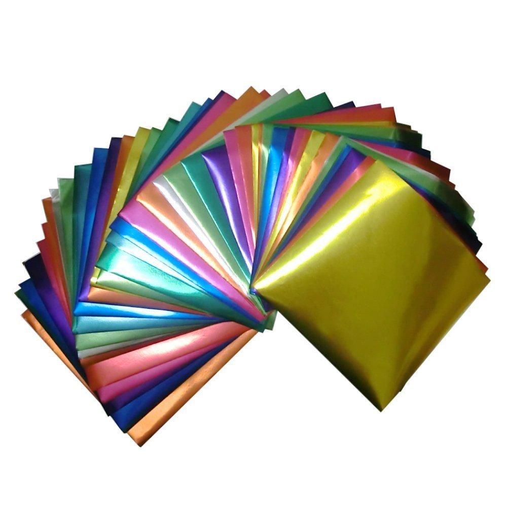 Foil Color Origami Folding Paper 90 Sheets Set Metallic Color GuCra 6262099