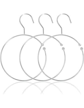 SIDCO G/ürtelring Schalhalter G/ürtelhalter Krawattenring Schmuckhalter Ringe 4 St/ück
