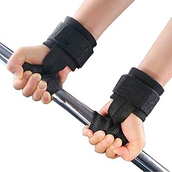 FINLON formación levantamiento de pesas correas de gimnasio correas de mano Bar Muñeca envuelve mano muñequera