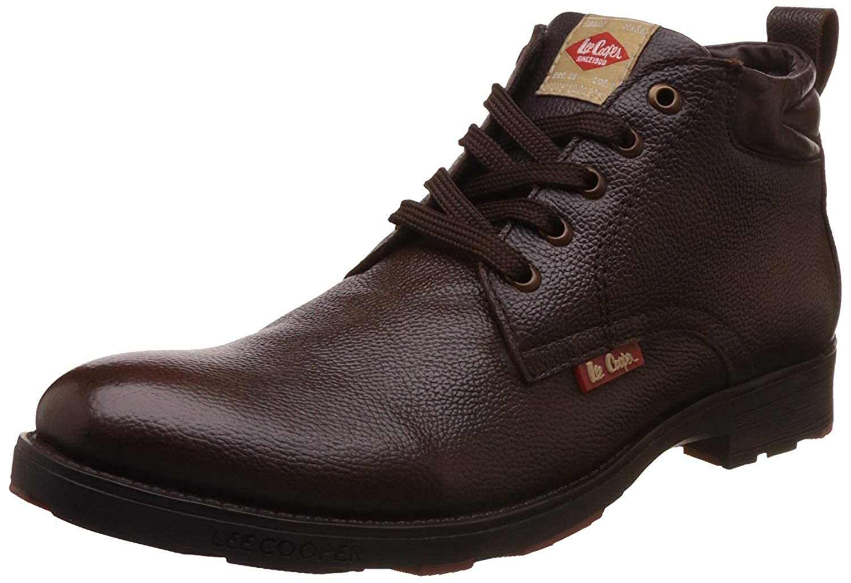 Buy Lee Cooper Men's Leather Boat Shoes