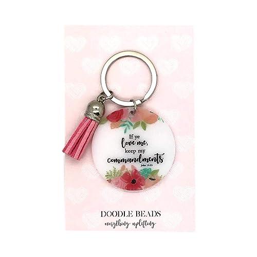 Amazon.com: Doodle Beads LDS 2019 - Llavero, diseño floral ...