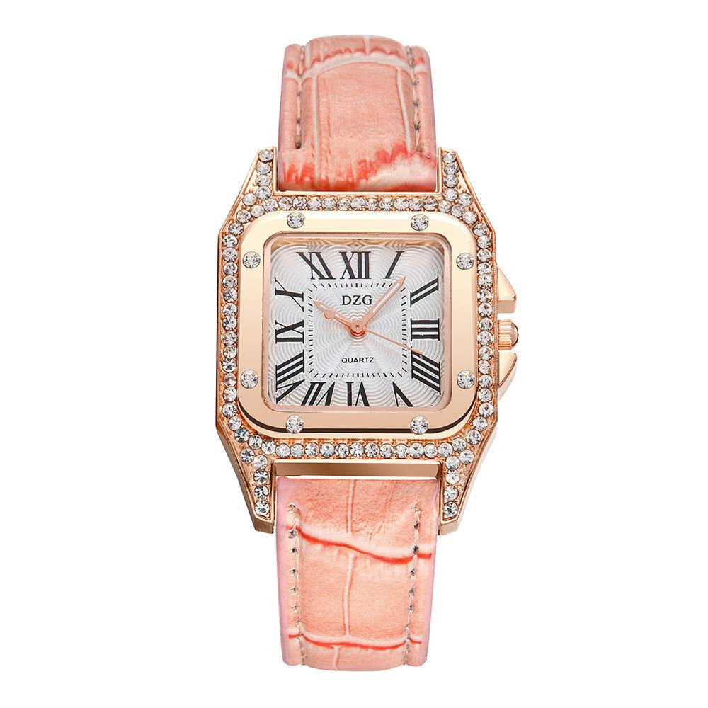 Geetobby Women's Watches Ladies Quartz Watch Color Strap Digital Dial Leather Band Fashion Casual Wristwatch for Girls