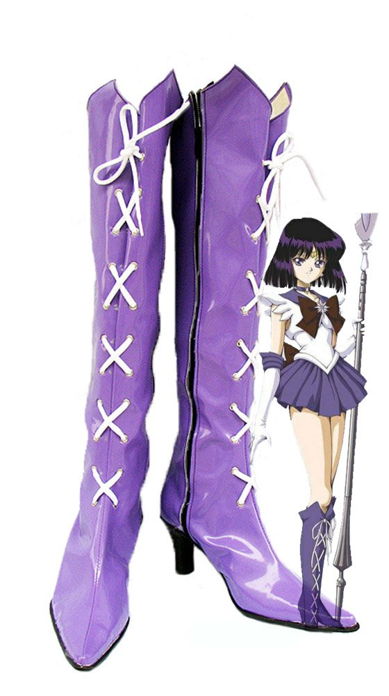 Sailor Moon Sailor Saturn Hotaru Tomoe Cosplay Shoes Boots Custom Made by Telacos
