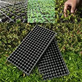 5PCS Seedling Starter Tray Black Plastic 200 Cell Seed Germination Plants Propagation Nursery Pots Tray Vegetables Garden Tools