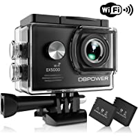 DBPOWER EX5000 Action Camera, 14MP 1080P HD WiFi Waterproof Sports Cam 2 Inch LCD Screen, 170 Degree Wide Angle Lens, 98ft Underwater DV Camcorder With 16 Accessories Kits (A-Action camera)
