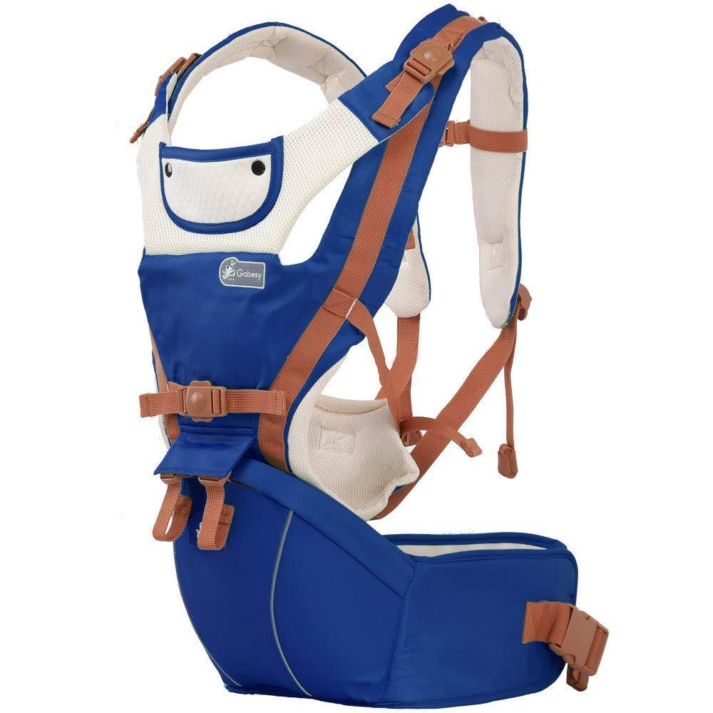 Multifunktions-Babytrage bis zu 3 Jahren (10-50 lbs), ergonomische Tragepositionen, Saphirblau