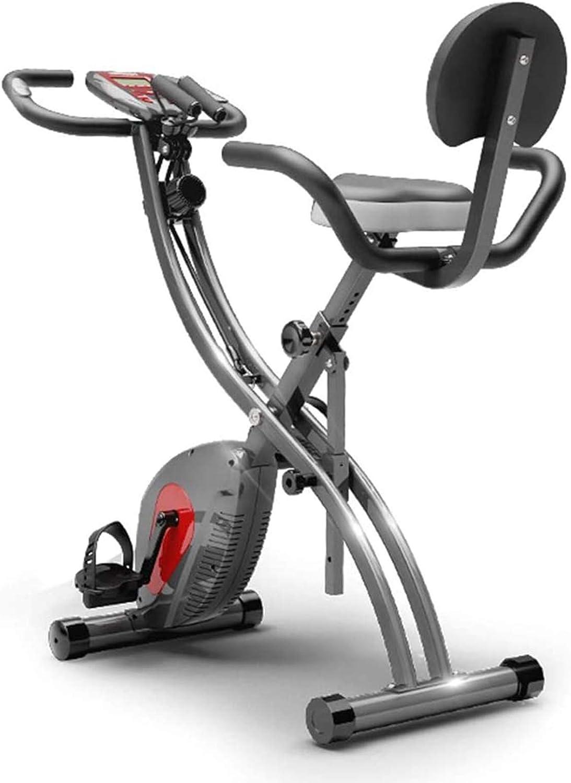 DELGC Folding Exercise Bike Dynamic Bicycle (small folding exercise bike)