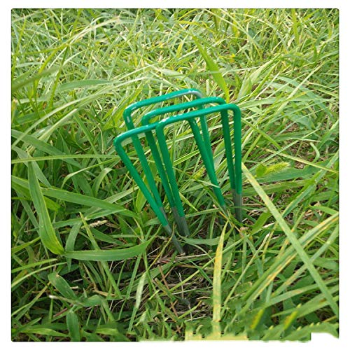 100 Pcs Garden Stakes Landscape Staples Galvanized Anchoring Pins,6 inch Sod Fence Stake - Sturdy Rust Resistant Gardening Supplies,15X3.5Cm by PEIQI (Image #4)