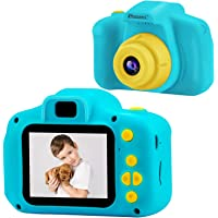 DROGRACE Kids Camera Children Digital Cameras for Boys Birthday Toy Gifts 4-12 Year Old Kid Action Camera Toddler Video Recorder 1080P IPS 2 Inch