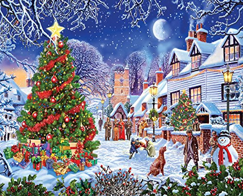 White Mountain Puzzles Village Christmas Tree - 1000 Piece Jigsaw -