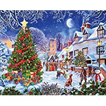 White Mountain Puzzles Village Christmas Tree - 1000 Piece Jigsaw Puzzle