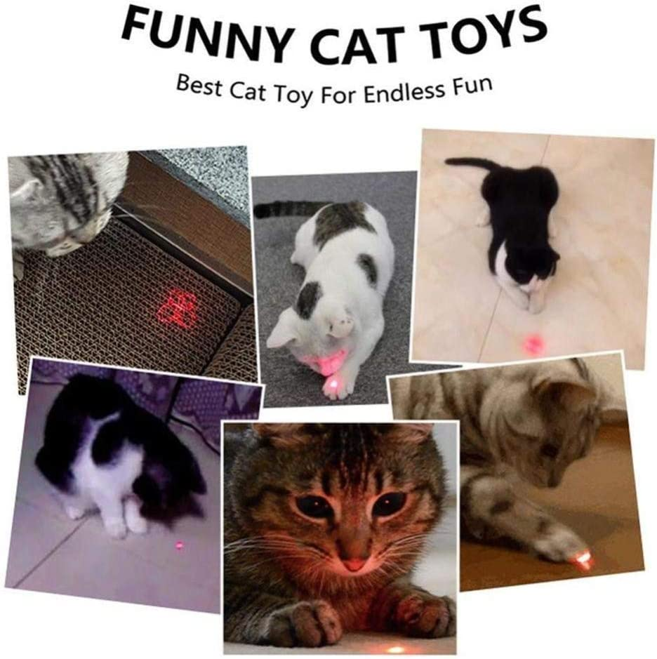 Playing and Keep Busy Great Puppy Dogs Gadget for Exercise Interactive Cat Toys for Indoor Cats Kitten Mice Chaser Cat Toys for Indoor Pets Cat and Dog Chase Catch Funny Toys