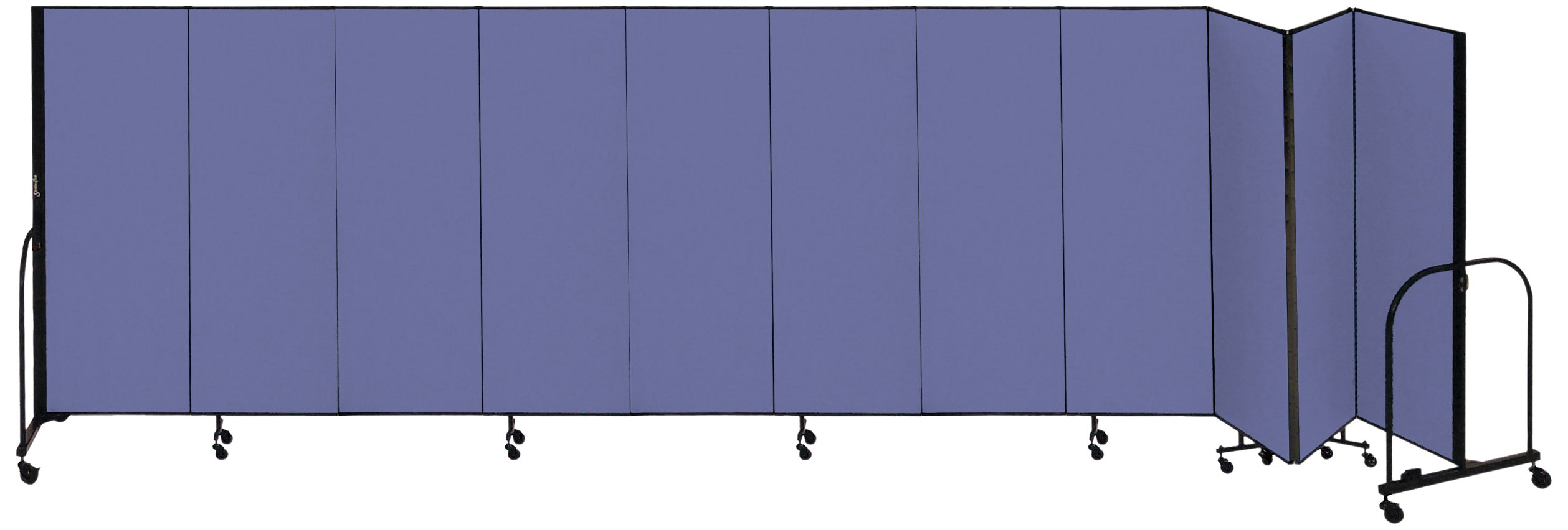Screenflex Commercial Portable Room Divider (CFSL6011-DS) 6 Feet High by 20 Feet 5 Inches Long, Designer Blue Fabric